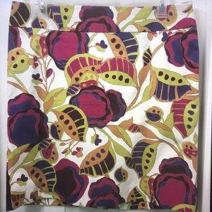 Merona Skirt Women's Size 14 Floral Iris Print